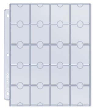 20-Pocket Platinum Page for Coins and Tokens