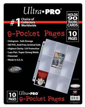 9-Pocket Platinum Page for Standard Size Cards (10 count retail pack)