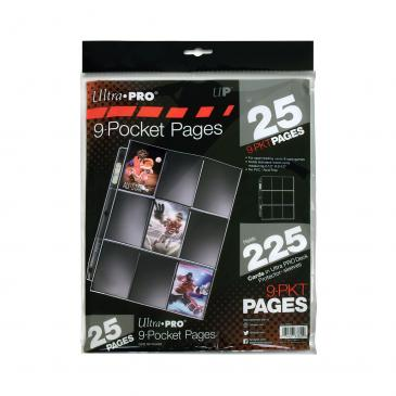 Ultra PRO Silver Series 9-Pocket Pages (25 count retail pack)