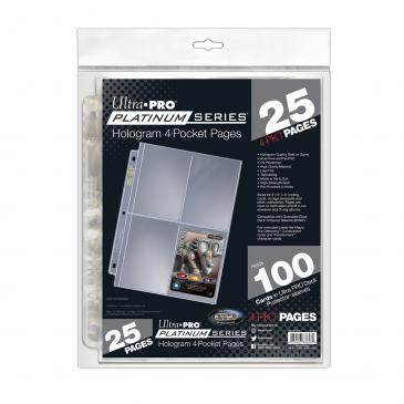 Ultra PRO Platinum Series 4-Pocket Pages (25 count retail pack)