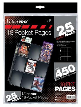 Ultra PRO Silver Series 18-Pocket Pages (25 count retail pack)