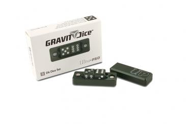 D6 - 2 Dice Set Gravity Dice - Black Forest