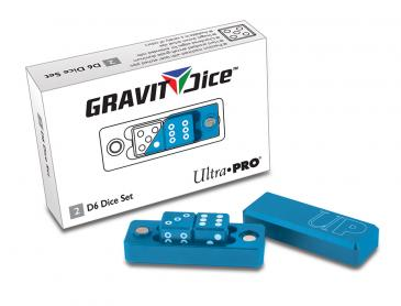 D6 - 2 Dice Set Gravity Dice - Cobalt