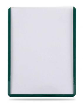 "3"" X 4"" Green Border Toploader 25ct"