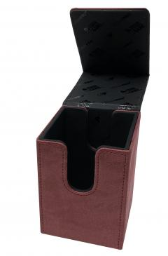 Suede Collection Alcove Flip Ruby Deck Box
