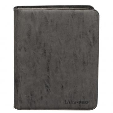 Suede Collection Zippered 9-Pocket Premium PRO-Binder - Jet