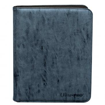Suede Collection Zippered 9-Pocket Premium PRO-Binder - Sapphire