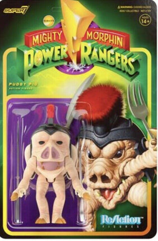 Puddy Pig Mighty Morphin Power Rangers Super 7 Reaction Figure