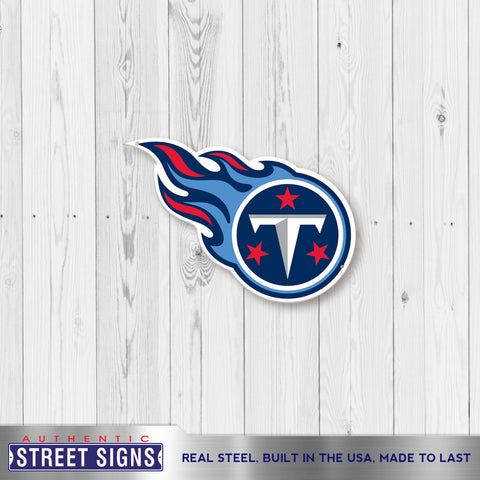 Tennessee Titans Laser Cut Steel Logo Spirit Size Authentic Street Signs 12""