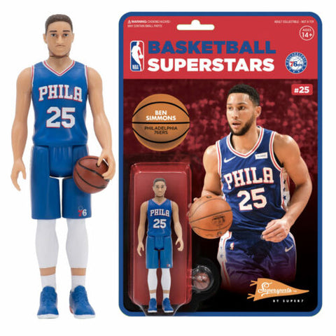 Ben Simmons 76ers Super 7 Reaction Action Figure