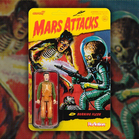 Burning Flesh Mars Attacks Super 7 Reaction Action Figure