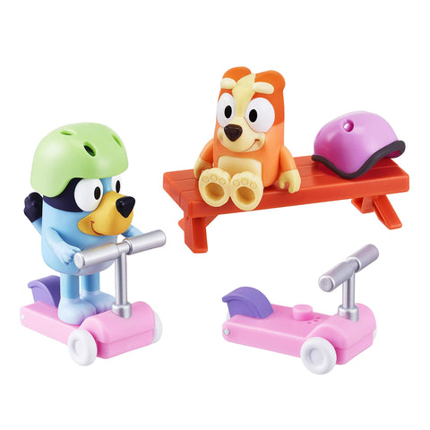 Bluey Vehicle 2-Pack Bluey & Bingo Figures Scooter Fun