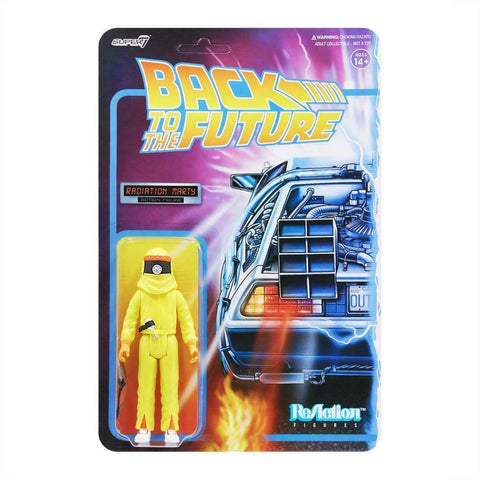 Marty Mcfly Radiation Back to the Future Super 7 Reaction Figure