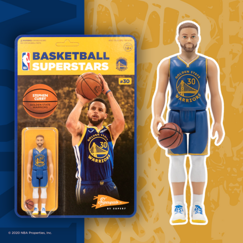 Stephen Curry Golden State Warriors Super 7 Reaction Figure