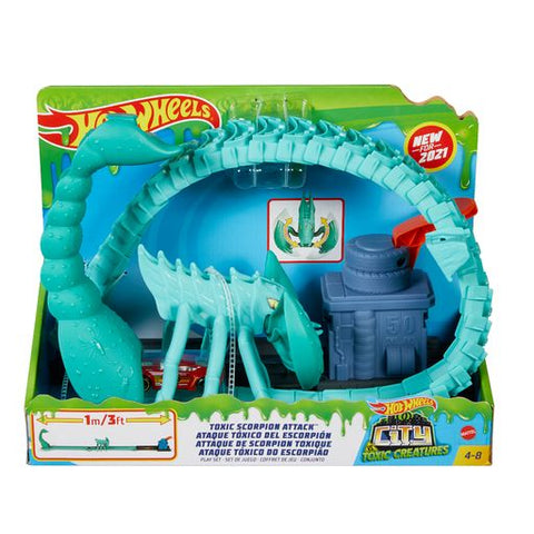 Toxic Scorpion Attack Hot Wheels Creatures City Set