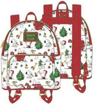 PEANUTS SNOOPY HOLIDAY AOP MINI BACKPACK