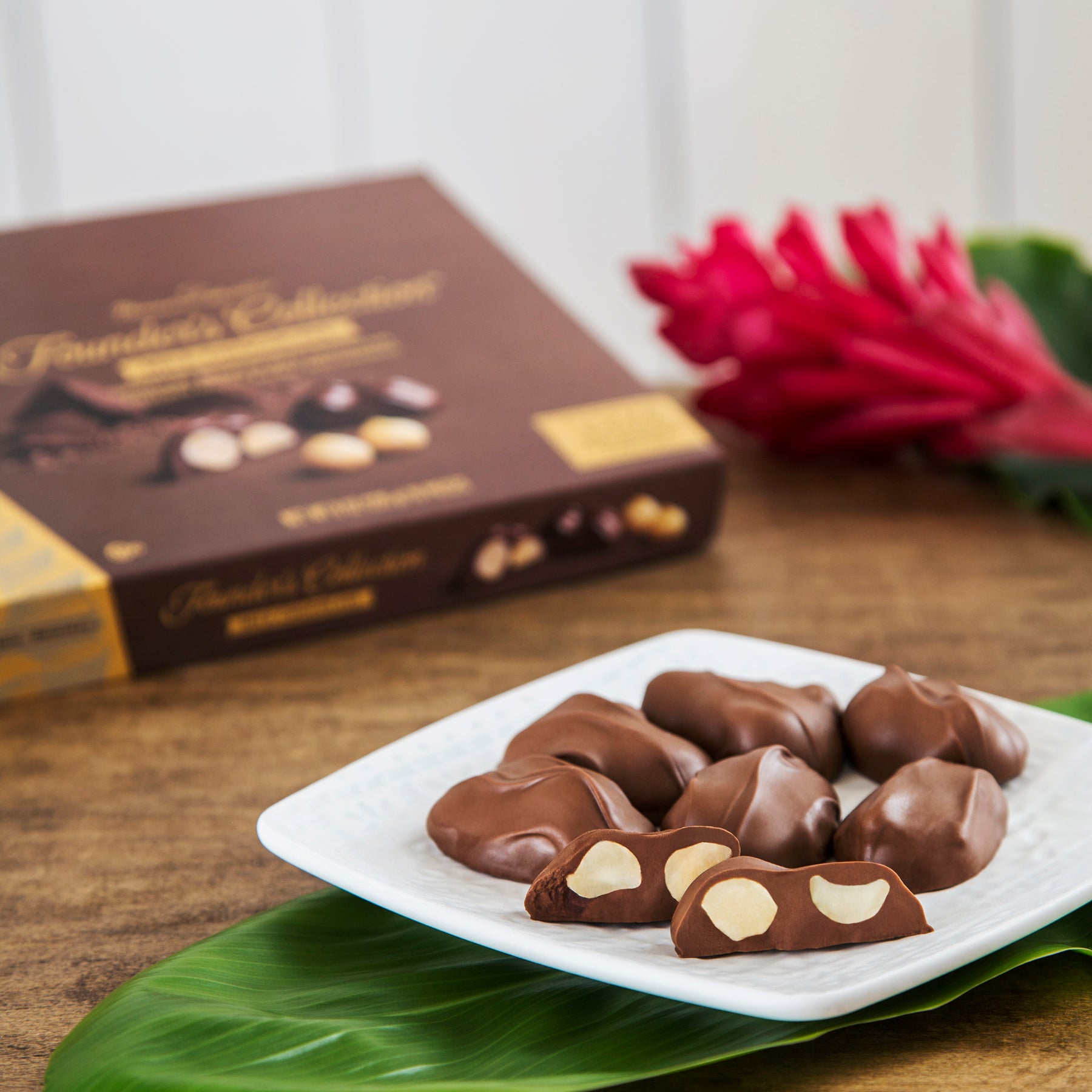 Founder's Collection milk chocolate covered macadamia nuts
