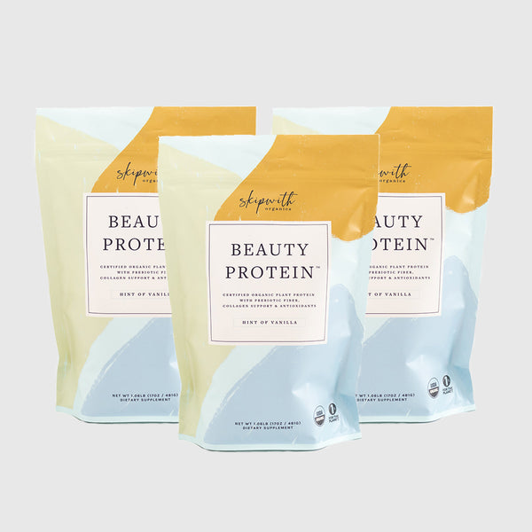 Hint of Vanilla Organic Beauty Protein Powder Three Bag Bundle