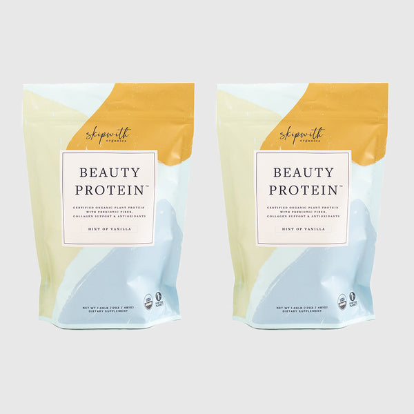 Hint of Vanilla Organic Beauty Protein Powder Two Bag Bundle