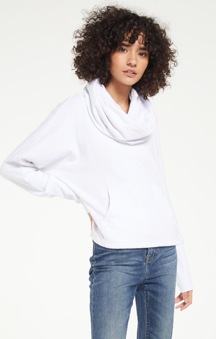 Easy Cowl White Top