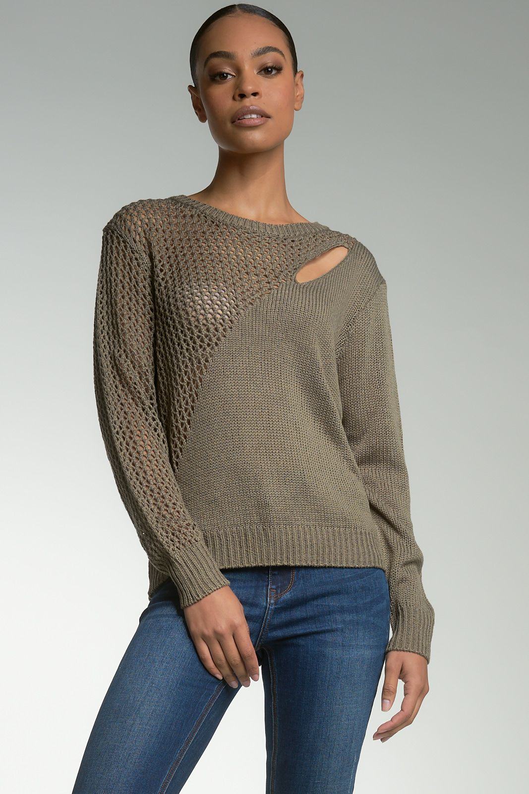 Shoulder Slit Sweater