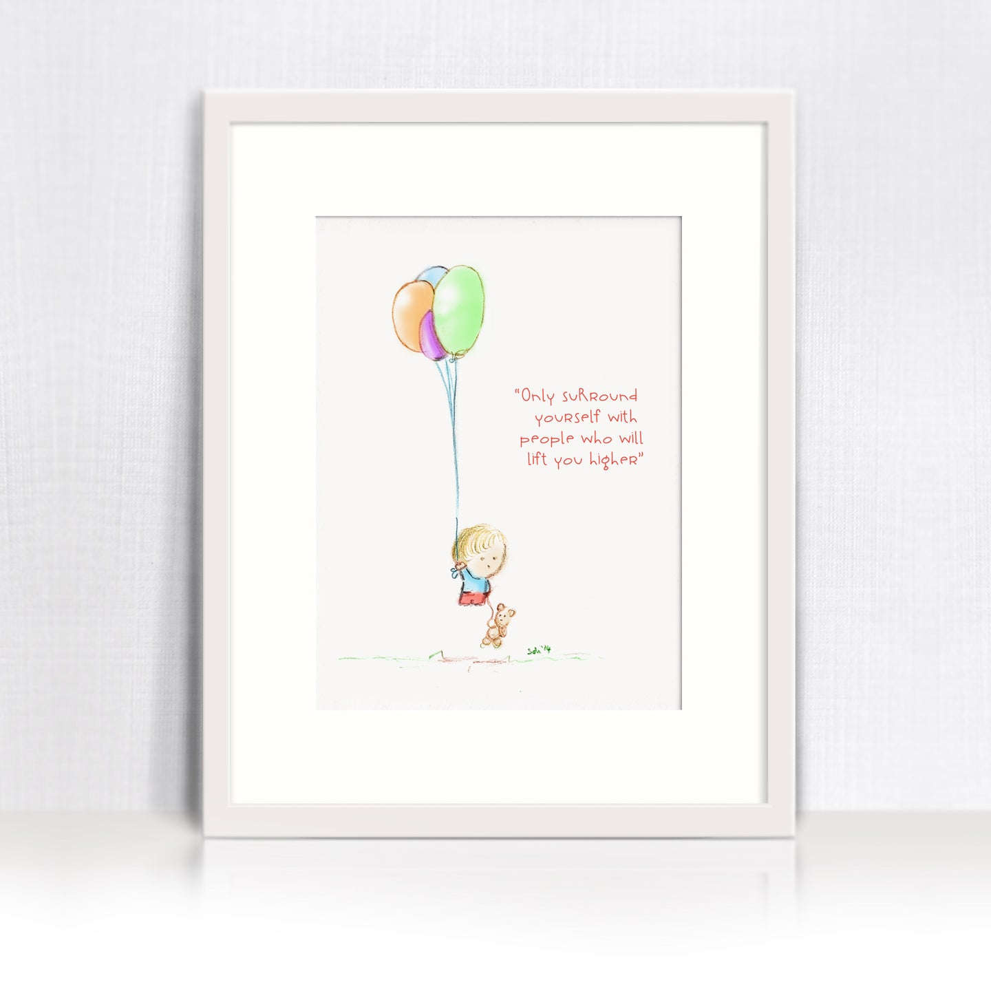 Aim High - Inspirational art print