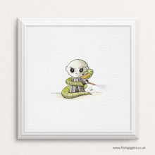 Load image into Gallery viewer, Voldemort - mini watercolour print