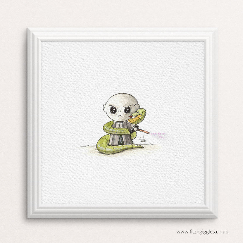 Voldemort - mini watercolour print