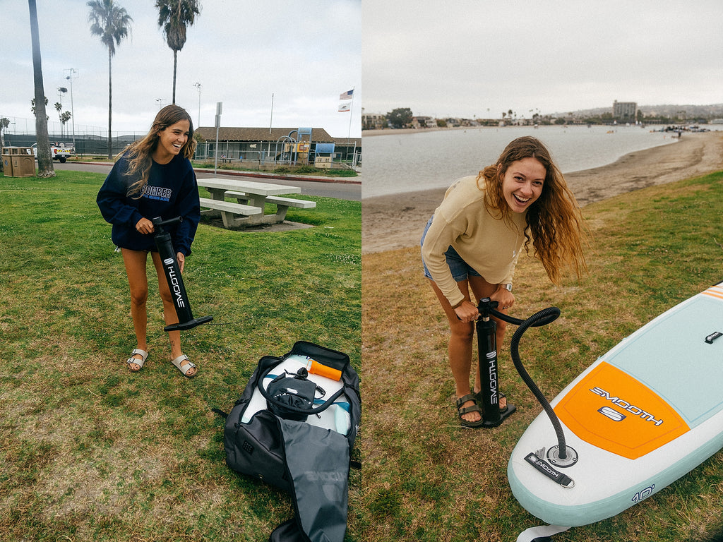 Smooth SUP accessories inflatable board pump