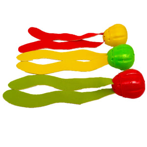 3 pcs Swimming Pool Toys Seaweed Diving Toy Kids Swimming Training Pool Throwing Toys for Children (Large)