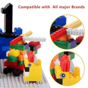 1700 pcs Kids Classic Building Blocks Weapon Figures Bulk City Bricks Creative Toys For Children Construction Block Base Plate