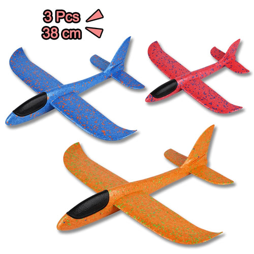 3 Pcs Hand Throw Airplane Toys for Children Foam EPP Hand Launch Glider Aircraft Outdoor Toys for Kids Party Game
