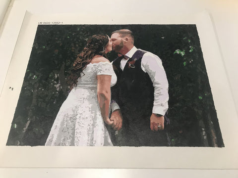 Anniversary picture custom paint by number