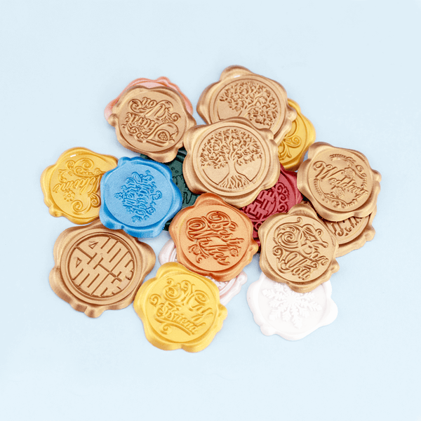 Self Adhesive Wax Seal Sticker DIY Your Initials with Date - Style 213-25MM