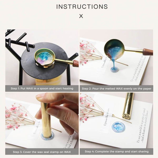 Wax Pellets Bottles Sealing Wax - Instagram Color Champagne Gold
