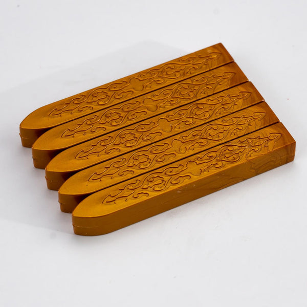 Amber Gold Sealing Wax Pack Of 5 Sticks