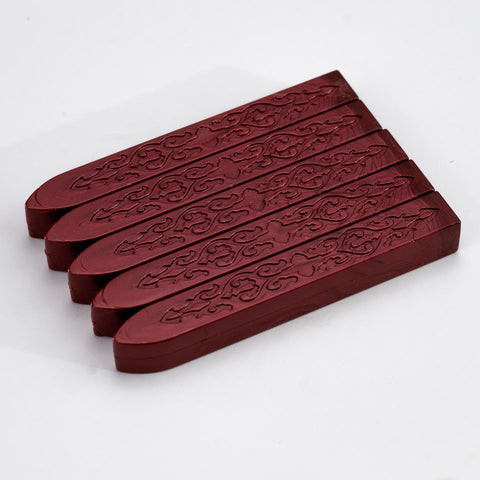 Berry Red Sealing Wax Pack Of 5 Sticks