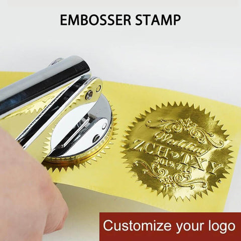 YOUR OWN FULL DESIGN - Custom Embossing Stamp / DIY Seals