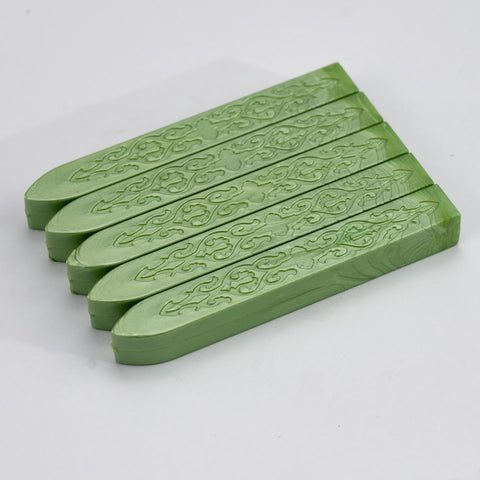 Fruit Green Sealing Wax Pack Of 5 Sticks