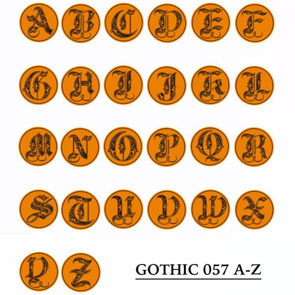 Gothic 057 Letter A-Z &  Wax Seal Stamp