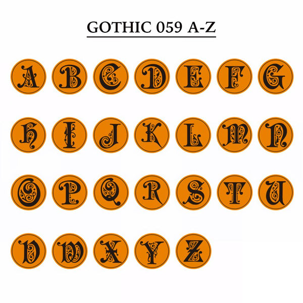 Gothic 059 Letter A-Z &  Wax Seal Stamp