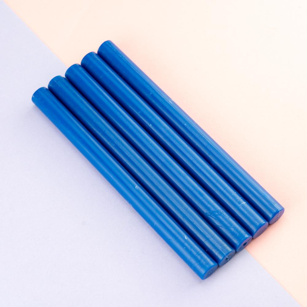 Gun Sealing Wax Pack Of 5 Sticks-Color blue
