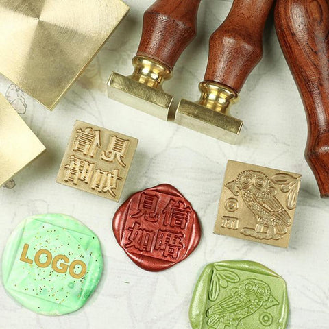 Free Customized Square Wax Seals