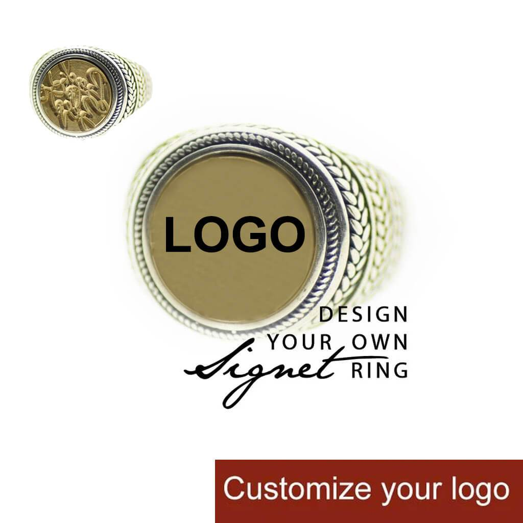 YOUR OWN FULL DESIGN - DIY 12mm/14mm Wreath Signet Ring