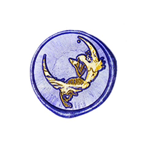 Mermaid Love Star and Moon Myth Series - Wax Seals Stamp