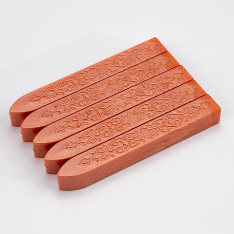 Orange Powder Sealing Wax Pack Of 5 Sticks