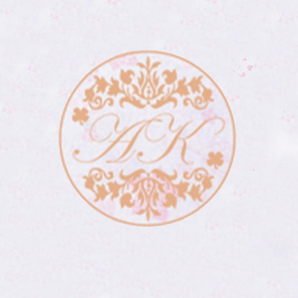Self Adhesive Wax Seal Sticker DIY Your Double Initials - Style 067-25MM