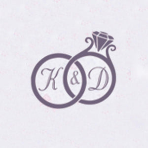 Self Adhesive Wax Seal Sticker DIY Your Double Initials - Style 424-25MM