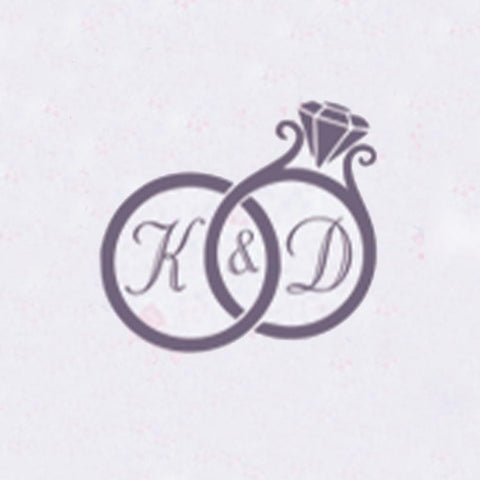 Personalized Double Initials Wax Seal Stamp Design Your Own - Style 424-25MM