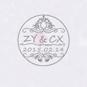 Self Adhesive Wax Seal Sticker DIY Your Initials with Date - Style 200-25MM